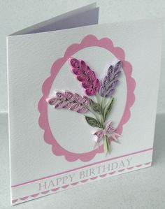 Quilled birthday card paper quilling