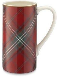 Williams-Sonoma Williams Sonoma Red Tartan Tall Mugs