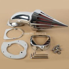 Motorcycle Spike Chrome Air Cleaner Intake Filter For Honda Shadow ACE 750 1998+