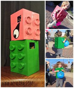 Awesome Idea on turning boxes into LEGO and LEGO DUPLO costumes! Thanks for sharing Dominique!