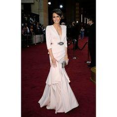 Louise Roe Elegant Evening Dress at 2012 Oscar Awards Red Carpet