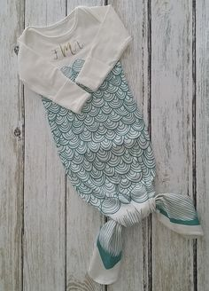 For the sweet little mermaid! A sleep sack that has two fins at the bottom that…
