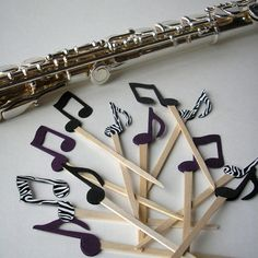 Music Note Cupcake Toppers  One dozen in YOUR by RisaRocksIt, $6.00