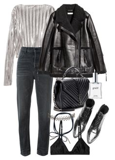 """""""Untitled #11263"""" by minimalmanhattan ❤ liked on Polyvore featuring Alexander Wang, Yves Saint Laurent, Monki, Assya London and philosophy"""