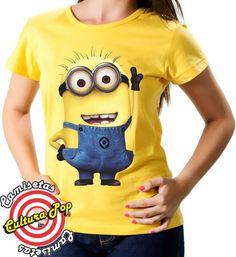 Camiseta e Blusa Feminina Cinema Minions.
