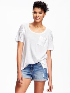 Boyfriend Pocket Tee for Women Product Image