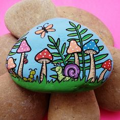 Painted Rock Animals, Painted Rocks Craft, Hand Painted Rocks, Paint On Rocks, Turtle Painted Rocks, Painted Garden Rocks, Painted River Rocks, Painted Pebbles, Painted Stones