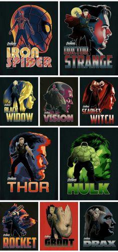 Avengers Infinity War: Superheroes Clip Arts