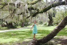 child photography, spanish moss, oak trees, new orleans, ©Misty Exnicios
