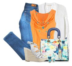 """""""Jeans & Wedge Sandals"""" by brendariley-1 ❤ liked on Polyvore"""