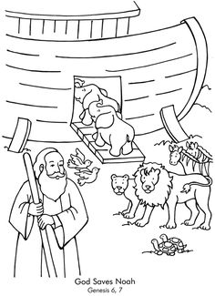 Noahs Ark Coloring Pages   Coloring Pages   Pinterest ...
