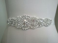 Wedding Dress Sash Belt Crystal Pearl Sash Belt | eBay