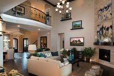 interior design living room two story - Google Search