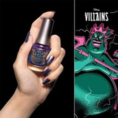 Chanel Your Inner Villain With The Villains Collection From Morgan Taylor! Disney Inspired Nails, Morgan Taylor, Professional Nails, Blue Pearl, Disney Villains, Fall Collections, New Product, Class Ring, Color Street