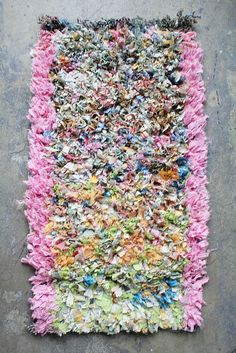 ARTISAN PROJECT / Boucherouite Rug Small Speckled Pink Frame