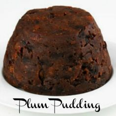 Plum pudding is a steamed or boiled pudding frequently served at holiday times. Plum pudding has never contained plums. The name Christmas pudding is first recorded in 1858 in a Xmas Pudding, Figgy Pudding, Pudding Cake, Best Christmas Pudding Recipe, Just Desserts, Dessert Recipes, Xmas Desserts, Creative Desserts, Biscuits