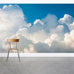 Wallums Wall Decor Fluffy Clouds x 3 Piece Wall Mura.- Wallums Wall Decor Fluffy Clouds x 3 Piece Wall Mural - Smooth Walls, Aesthetic Backgrounds, Home Improvement Projects, Decorating Tips, Planer, Wall Murals, Kids Murals, Wall Decor, Clouds