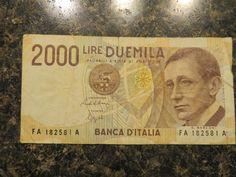 Italy 2000 Lire banknote 1990 G. Marconi FA 182581 A