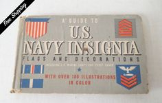Vintage Guide to United States Navy Insignia Flags and Decorations 1942 Hardcover Book by VintageSistersx2 on Etsy