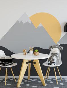 10 Ways to Create a Mountain Wall in the Children's Room Playroom Mural, Giada De Laurentiis, Kids Wallpaper, Kids Decor, Home Decor, Baby Boy Rooms, Baby Room Decor, Kids Bedroom, Home Improvement