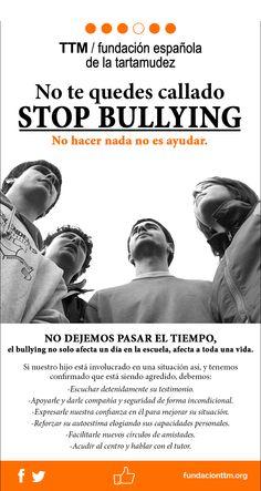 Cartel informativo sobre #bullying #fundacionttm