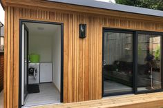 Gallery | Insulated Garden Rooms | Outside In Larch Cladding, House Cladding, Exterior Cladding, Backyard Office, Backyard Sheds, Garden Office, Garden Gym Ideas, Shed Design, House Design