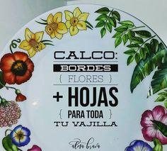 "Primavera eterna en tu vajilla con el calco ""b•o•r•d•e•s"". 🌿💐☘🌻🌿🌺☘🌼🌿  Pedilo por ✉ a almabrava.porcelana@gmail.com o por 📥 Inbox. Seguime en facebook y no te pierdas ningun posteo 😊   #porcelana #ceramica #pintadoamano🎨 #platos #vajillapersonalizada #calcosvitrificables #almabravadiseños #flores #decovajilla #porcelain #paintedchina #flowers #decals #decor #colourfullplates #tableware #mydesigns #pottery #ceramics #porcelainart #ceramicarts #artsandcrafts"