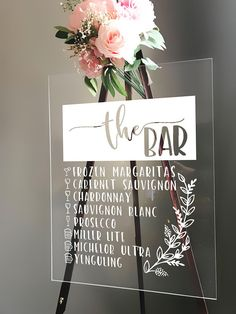Customized Bar Menu Sign Wedding Decor Wedding Decorations Acrylic Wedding Sign Wedding Sign Acrylic Wedding Decor Acrylic Bar Menu - Decoration For Home Wedding Signage, Wedding Menu, Wedding Favors, Wedding Ceremony, Rustic Wedding, Wedding Planning, Wedding Day, Wedding Bar Signs, Industrial Wedding Decor