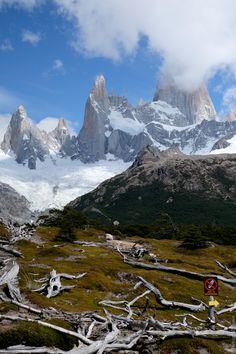 Laguna de los tres trek v Patagónii, Argentína.