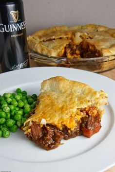 Last month with St. Patrick's day I saw a lot of beef stew recipes and something else that caught my eye; a beef stew pie. A beef stew pie is pretty much like it sounds, Steak And Guinness Pie, Guinness Pies, Guinness Recipes, Scottish Recipes, Irish Recipes, Beef Recipes, Cooking Recipes, Irish Meals, Recipies