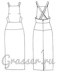 Выкройка №422, сарафан, магазин выкроек grasser.ru #sewing_pattern