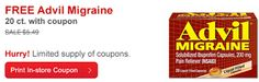 Free Advil Migraine 20 Ct. Product ($5.49 Value) Coupon! *CVS Offer*