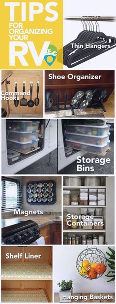 Organize your RV, motorhome, or travel trailer with these space-saving tips from…
