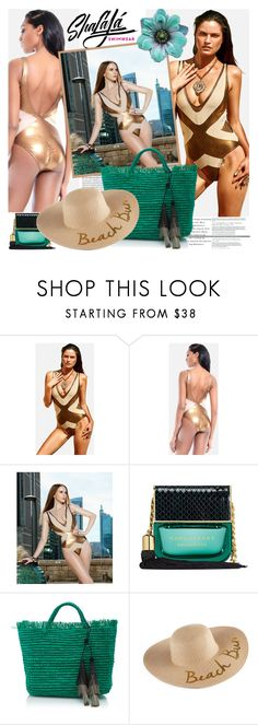 """""""SHALAJA SWIMWEAR"""" by gaby-mil ❤ liked on Polyvore featuring Marc Jacobs, SONOMA Goods for Life, beach, swimwear, shop and shalajaswimwear"""
