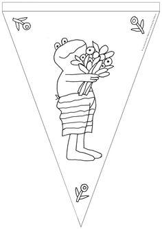 Maak je eigen slinger met deze mooie kikker vlag Teaching, Education, School, Kids, Infatuation, Preschool, Fairy Tail, Short Stories, Monsters