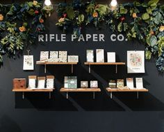Rifle Paper Co New York International Gift Fair August 2012 2 Trade Show Booth Design, Display Design, Theatre Design, Store Design, Display Ideas, Craft Fair Displays, Market Displays, Booth Displays, Window Displays