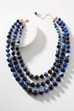 Anthropologie Midnight Layered Necklace