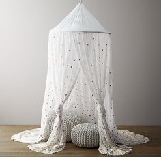 Metallic Printed Cotton Voile Play Canopy