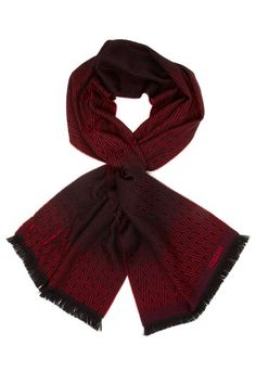 Missoni Zigzag Ombre Scarf in Red wool blend