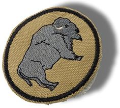 "[Single Count] Custom and Unique (4"" x 2-1/2"") Round Circle Original ""Animal"" Wild Bison Buffalo American Style w/ Border Iron On Embroidered Applique Patch {Grey, Tan & Black Colored}"