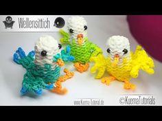 Rainbow Loom Vogel Wellensittich - Bird ( ENG SUB) - YouTube