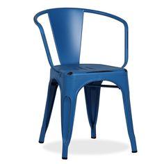 Chaise métalique disponible en différentes couleurs pour décorer - 61 € - et donner un vie différente à des entreprises de restauration, jardins ou des maisons avec du style. Fabriqué en acier laqué de haute qualité. S´associe parfaitement à différents styles de décoration. Pour usage en intérieur uniquement.
