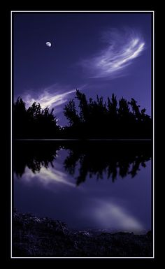 ✯ Moon, Clouds and Reflections