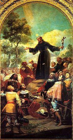 San Bernadino de Siena predicando ante Alfonso V de Aragón, Francisco Goya. Pamela García
