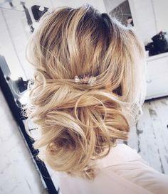 Wedding updo for straight hair   Wedding hairstyle   http://fabmood.com #weddinghair #bridalupdo #texturedhair #promhair #braid #updo #upstyle #hairdo #bridalhair #wedding #weddingupdos