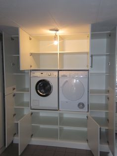 Laundry room layout – Home Decorating Laundry Closet, Laundry Room Organization, Laundry In Bathroom, Small Laundry, Laundry Room Layouts, Small Room Bedroom, Laundry Room Design, Living Room Designs, New Homes