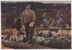 Художник Алексей Павлович Белых (род. 1923 г.) Русская школа. «Лесоруб». 1963-1964 гг.