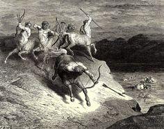 """Gustave Doré - Illustration de """"La Divine Comédie"""" de Dante Alighieri - L'Enfer, Chant 12, lignes 64-94."""