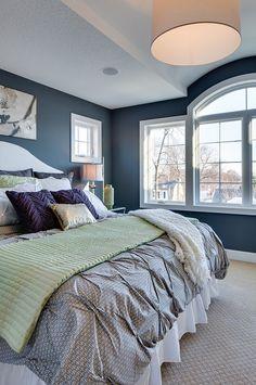 Navy Blue Paint Color - Sherwin Williams Web Gray SW7075 | Bria Hammel Interiors.