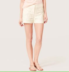 Lace Riviera Shorts with 4 Inch Inseam | Loft